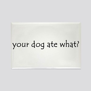 your dog ate what? Rectangle Magnet