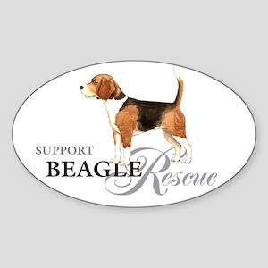 Beagle Rescue Oval Sticker