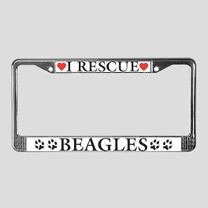 Beagle Rescue License Plate Frame