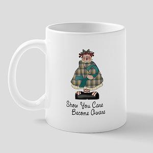 Country Girl Awareness TEAL 2 Mug