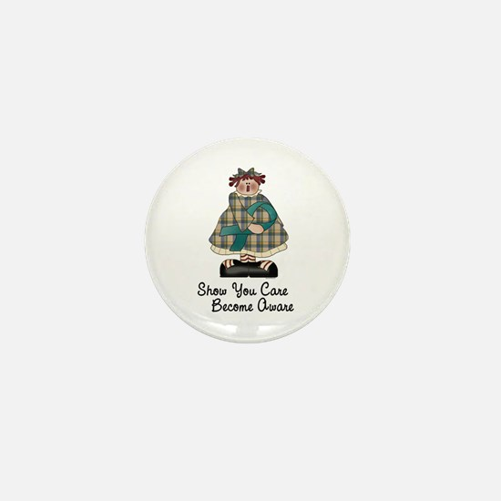 Country Girl Awareness TEAL 2 Mini Button (10 pack