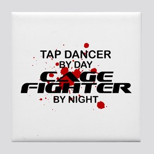 Tap Dancer Cage Fighter by Night Tile Coaster