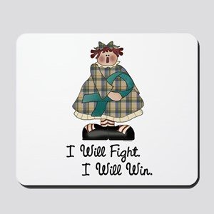 Country Girl Fight Win TEAL 1 Mousepad
