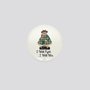 Country Girl Fight Win TEAL 1 Mini Button