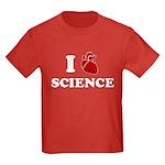 i love science Kids Dark T-Shirt