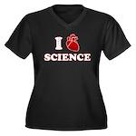 i love science Women's Plus Size V-Neck Dark T-Shi