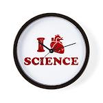 i love science Wall Clock
