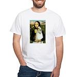 Mona & her Borzoi White T-Shirt