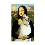 Mona & her Borzoi Rectangle Sticker
