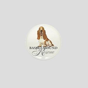 Basset Hound Rescue Mini Button