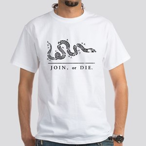 Join or Die White T-Shirt