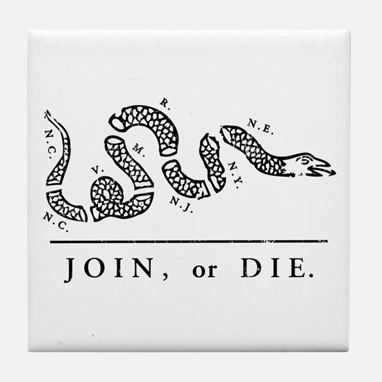 Join or Die Tile Coaster
