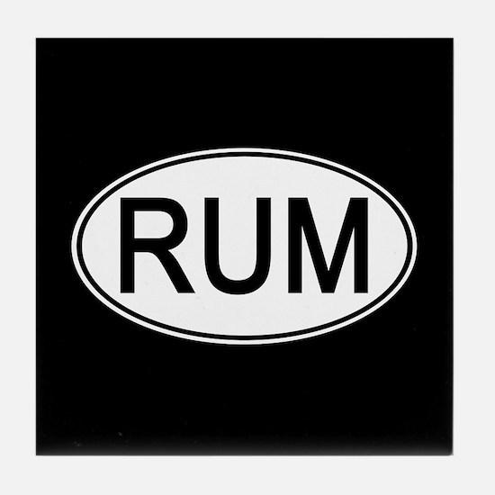 Rum Euro Oval black Tile Coaster