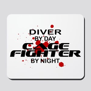Diver Cage Fighter by Night Mousepad