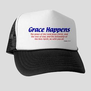 Grace Happens Trucker Hat