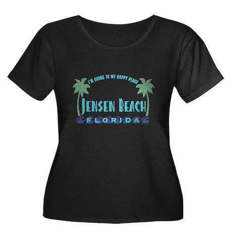 Jensen Beach Happy Place - Women's Plus Size Scoop
