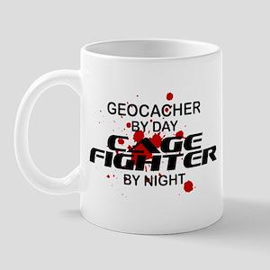 Geocacher Cage Fighter by Night Mug