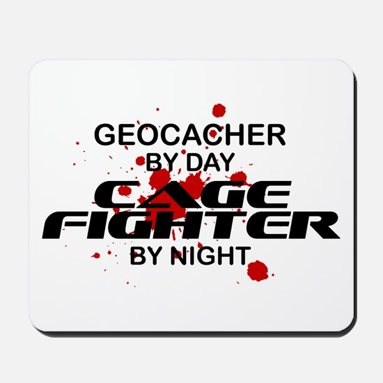 Geocacher Cage Fighter by Night Mousepad