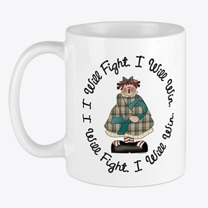 Country Girl Fight Win TEAL 3 Mug