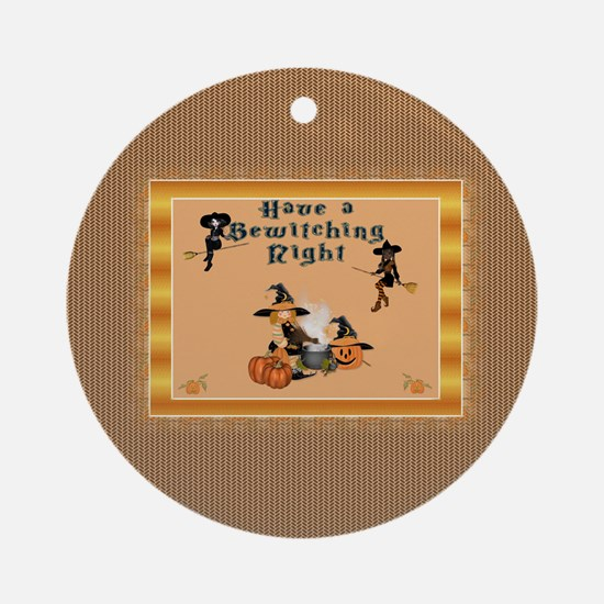 Bewitching Witches Ornament (Round)