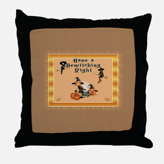 Bewitching Witches Throw Pillow