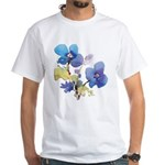 Watercolor Flowers White T-Shirt