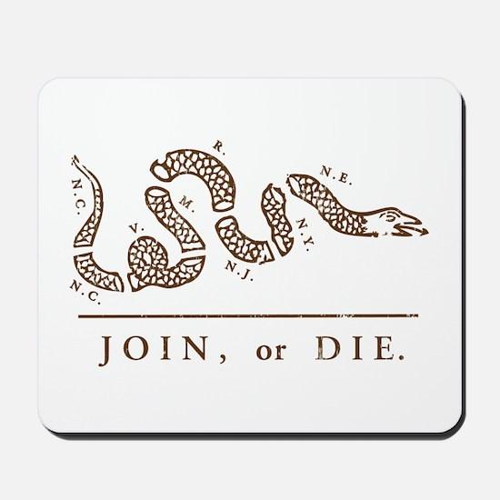 Join or Die Mousepad