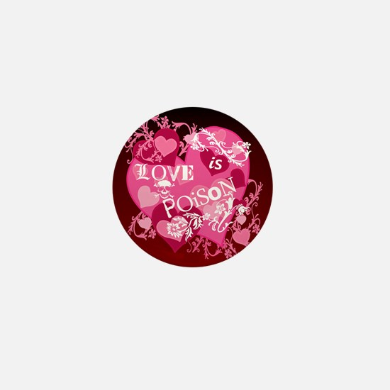 Love is Poison Abstract Mini Button