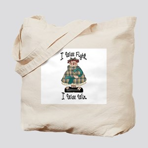 Country Girl Fight Win TEAL 2 Tote Bag