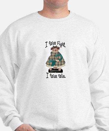 Country Girl Fight Win TEAL 2 Sweatshirt