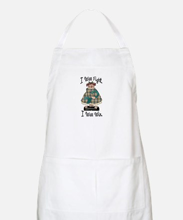 Country Girl Fight Win TEAL 2 BBQ Apron