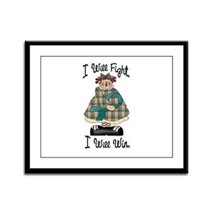 Country Girl Fight Win TEAL 2 Framed Panel Print
