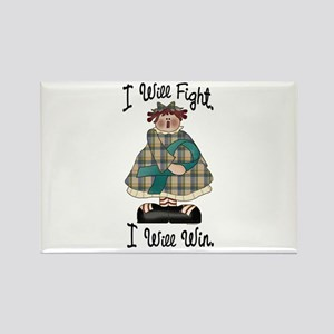 Country Girl Fight Win TEAL 2 Rectangle Magnet