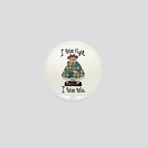 Country Girl Fight Win TEAL 2 Mini Button