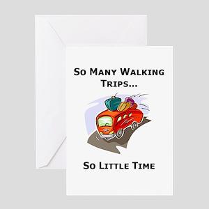 So Many Walking Trips Greeting Card