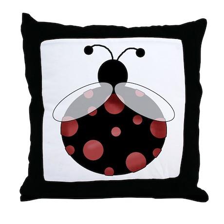 Lucky Bug Throw Pillow
