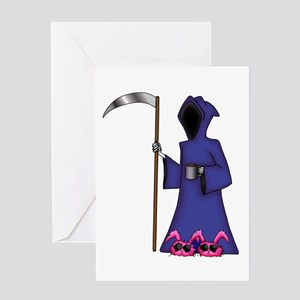 Death In BunnySlippers Greeting Card
