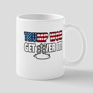 Trump Won Get Over It! Snowflake Mugs