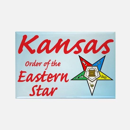 Kansas Eastern Star Rectangle Magnet