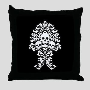 Baroque Skulls Throw Pillow