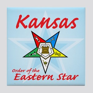 Kansas Eastern Star Tile Coaster