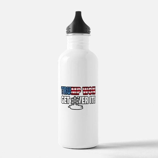 Trump Won Get Over It! Water Bottle