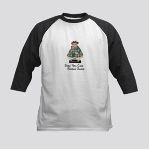Country Girl Awareness TEAL 2 Kids Baseball Jersey