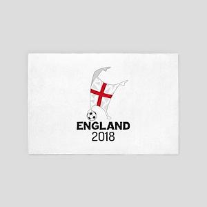 England Flag Soccer Dabbing 2018 Footb 4' x 6' Rug