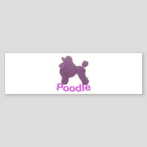 Purple Poodle Bumper Sticker