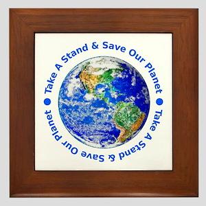 Save Our Planet! Framed Tile