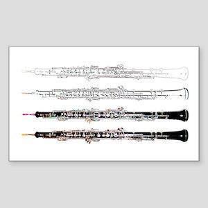 Oboe Rectangle Sticker