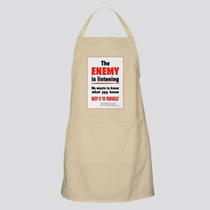 The Enemy is Listening BBQ Apron