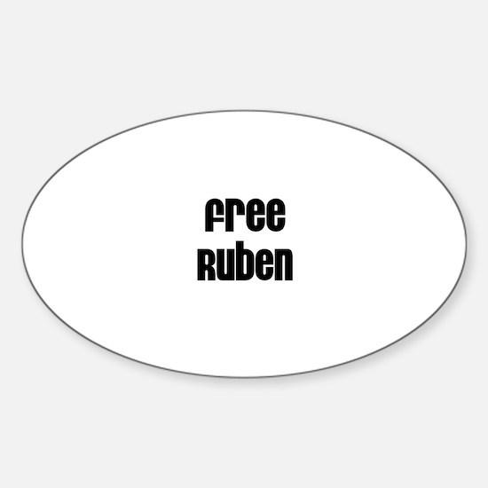 Free Ruben Oval Decal