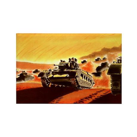 British Tanks Rectangle Magnet (100 pack)
